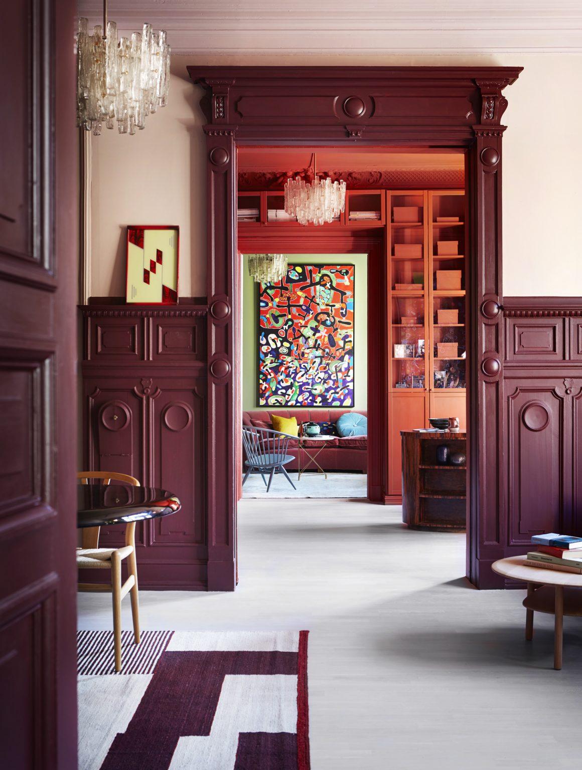01_pure_original_diningroom_oldwine_panels_skinpowder_wall_oldrose_moldings_office_brownred_wallsceiling_familyroom_landscape_walls